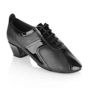 410 Breeze Black Leather & Black Patent