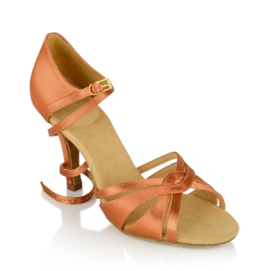 884-X Aura Xtra Dark Tan Satin