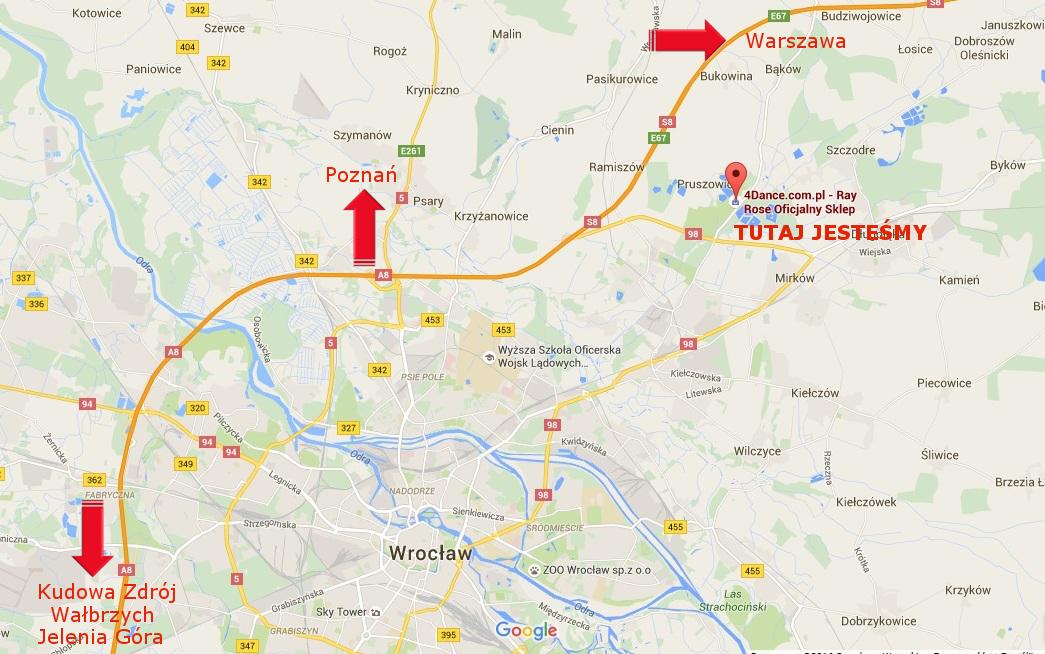Dojazd do Sklepu 4Dance.com.pl